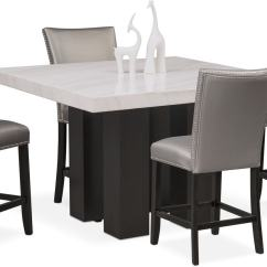 Kitchen Table Stools Sink Cabinets Lowes Artemis Counter Height Dining And 4 Upholstered Gray Room Furniture