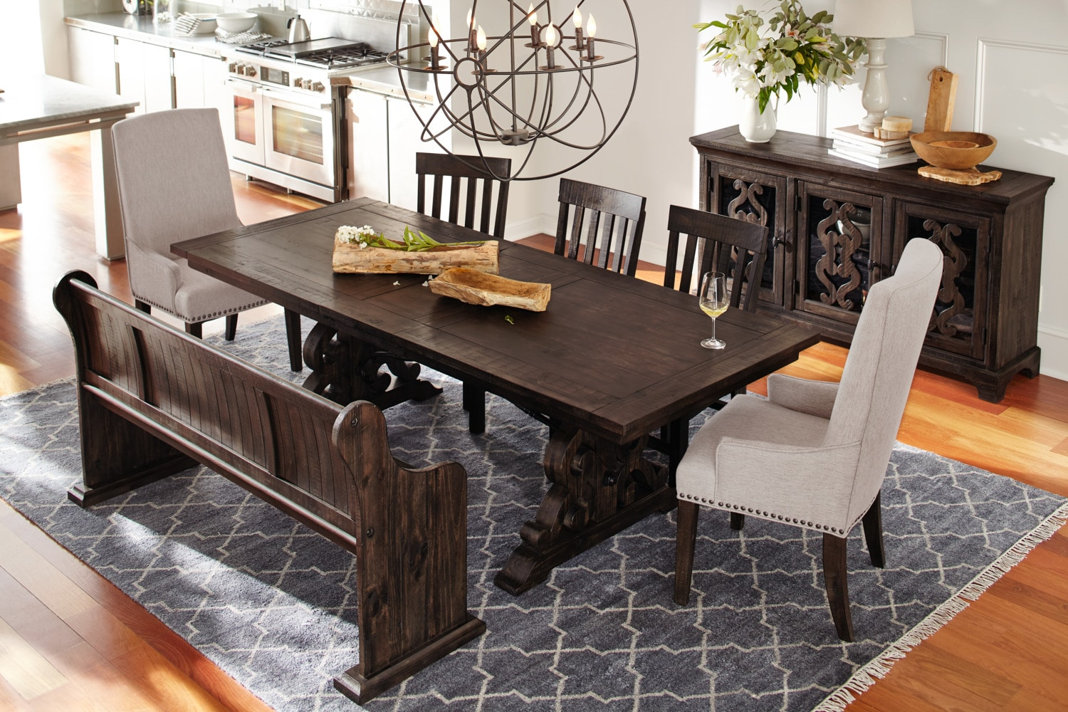 Dining Table With Bench And Chairs Charthouse Rectangular Dining Table 4 Side Chairs And
