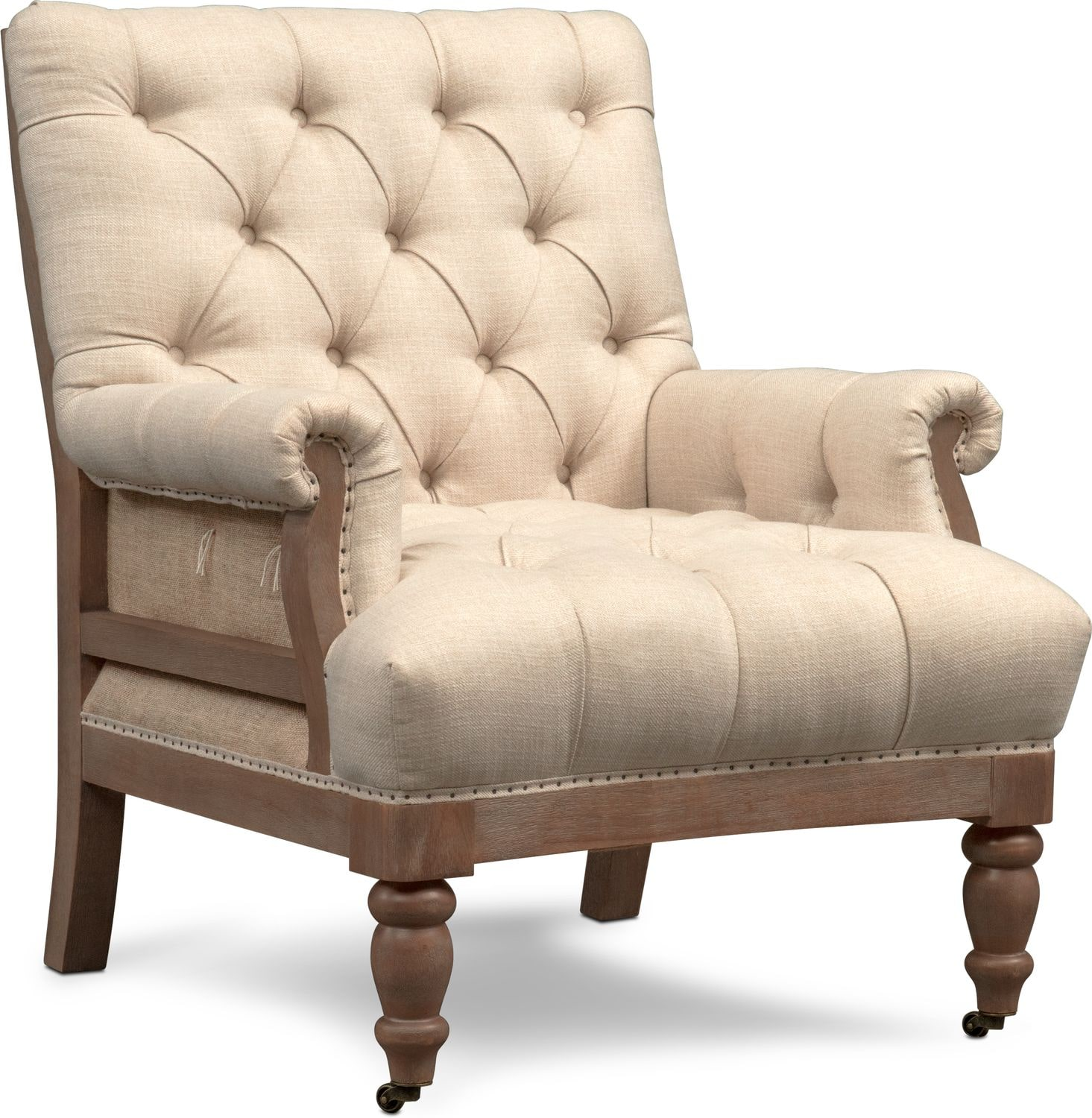 Accent Chair Living Room Bridget Accent Chair Cream