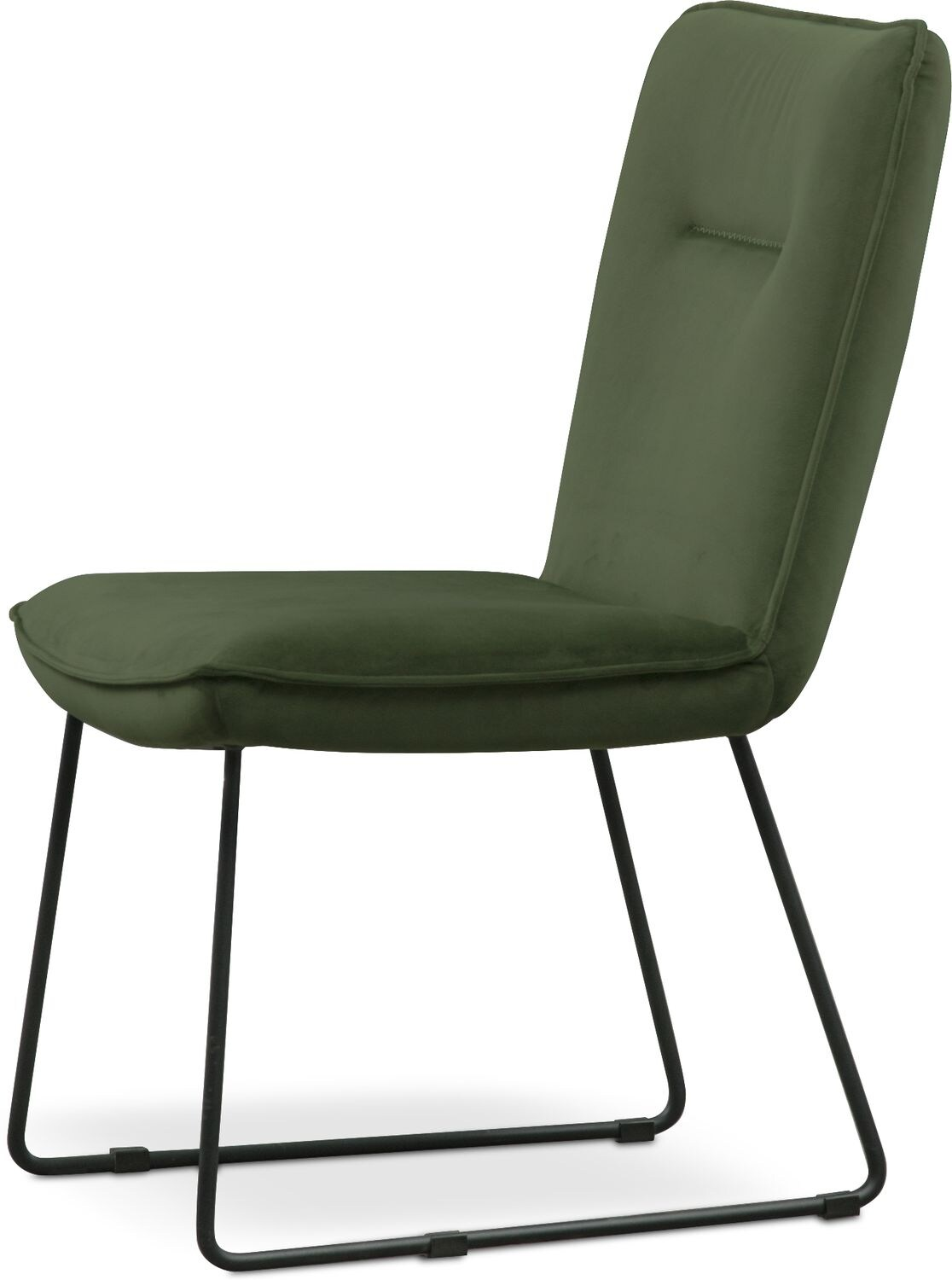 green upholstered dining chairs swivel chair and footstool portland side hunter value