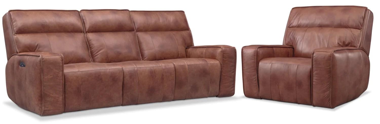 triple reclining sofa sofas birmingham uk bradley power and recliner set value city furniture mattresses