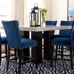 Upholstered Counter Chairs Ivory Chair Covers For Sale Artemis Height Stool Blue Value City Click To Change Image