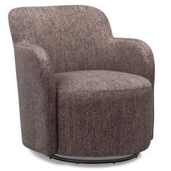 Brown Swivel Chair Office Lounge Chairs Garcia Value City Furniture And Mattresses Living Room