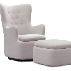 Swivel Chair Value City Parsons Dining Room Slipcovers Addie And Ottoman Set Gray