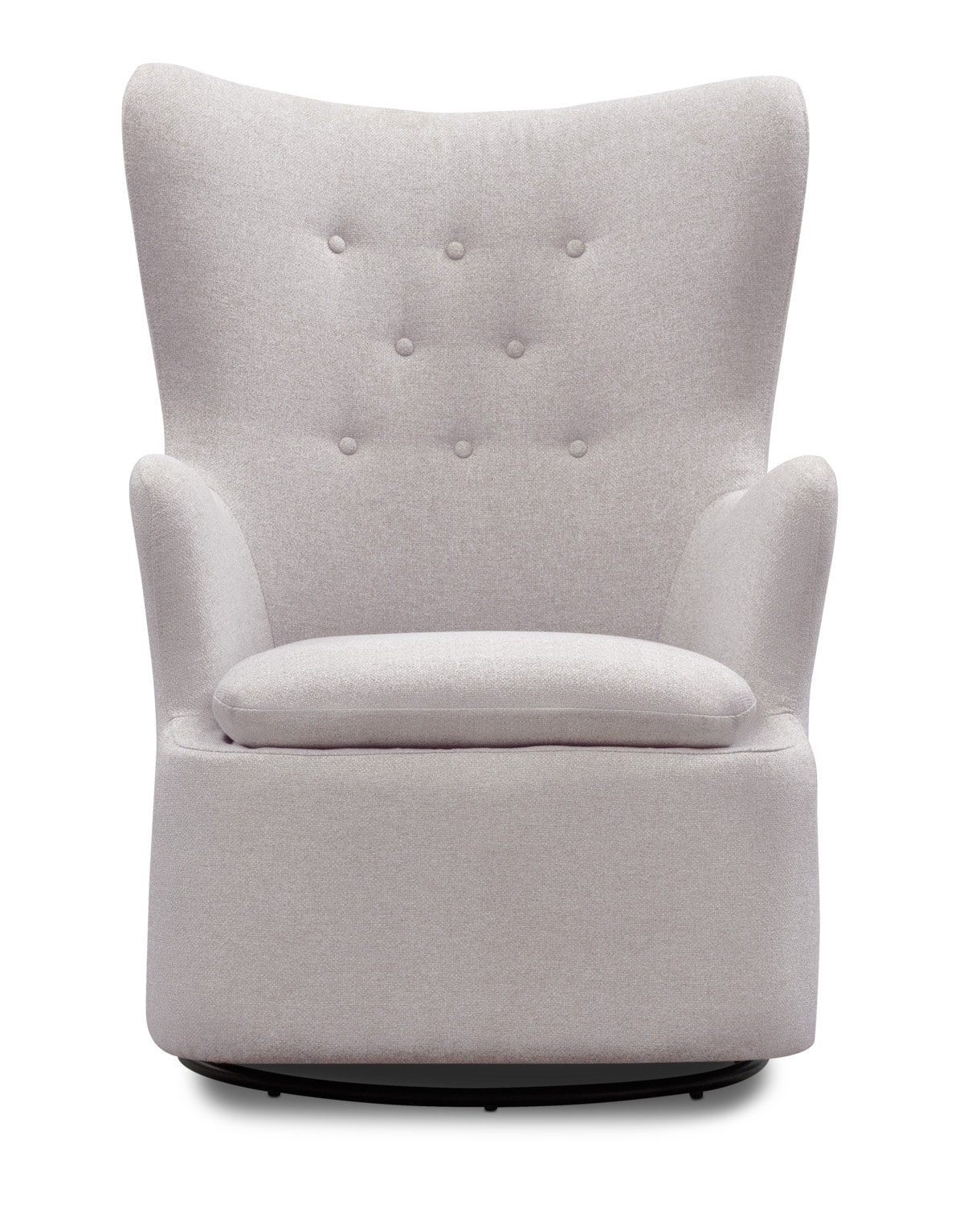 swivel chair value city dining room covers pier one addie gray furniture and
