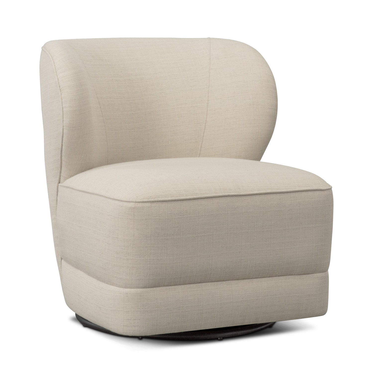 swivel chair value city squeaky office lounge ivory furniture and