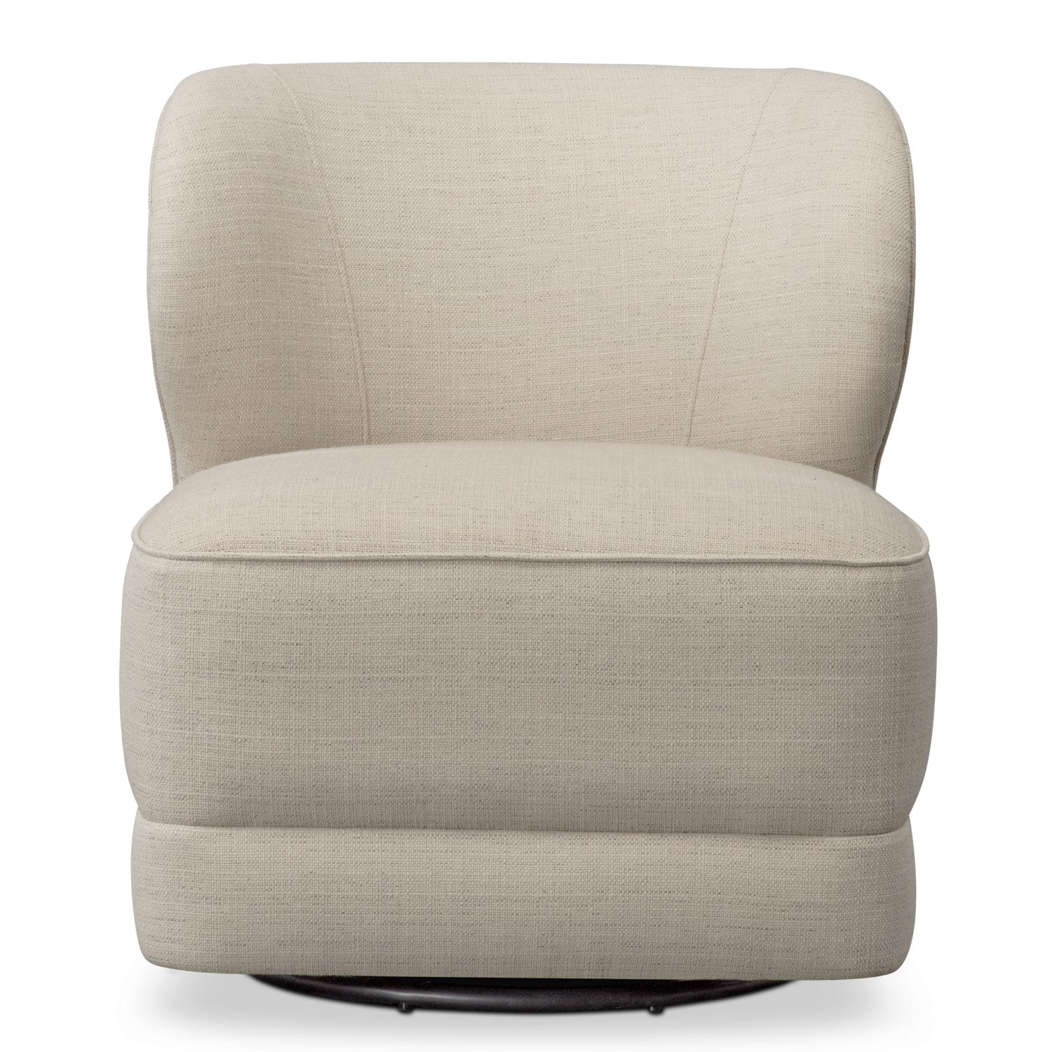 swivel chair value city sure fit dining covers target lounge ivory furniture and