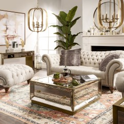 Mirror Living Room Tables Idea With Brown Couch Reflection Coffee Table Antiqued Value City Furniture And Click To Change Image