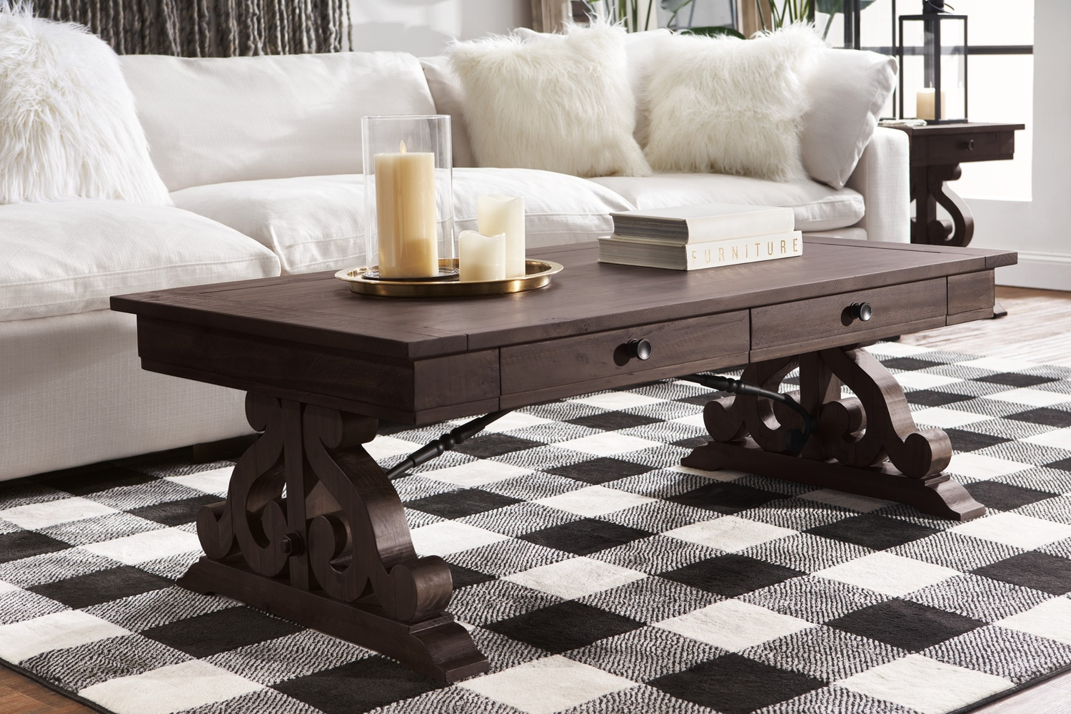 living room tables wall paintings for coffee value city charthouse table charcoal