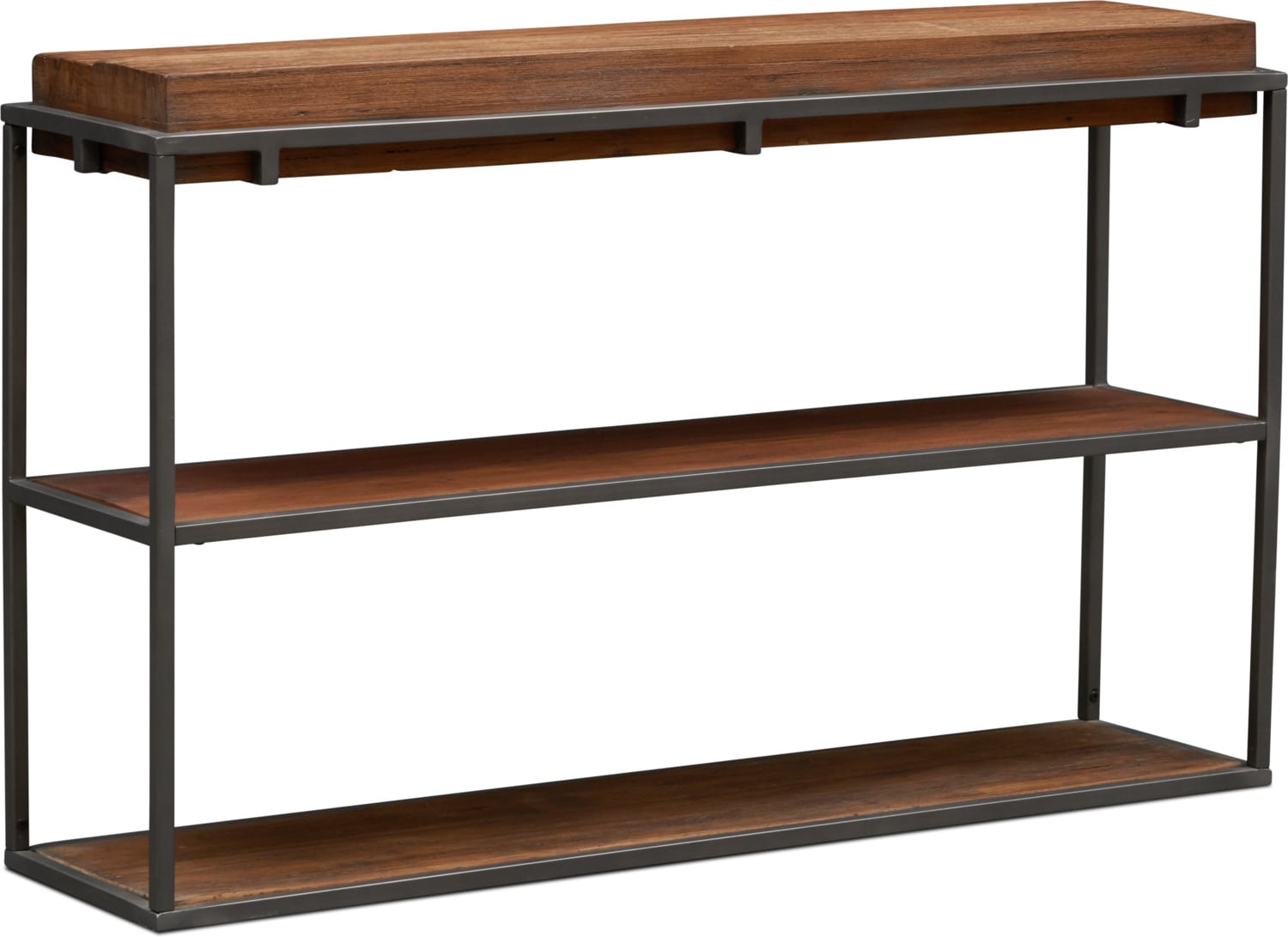 sofa tables for living room country chic console value city tap to change woodford table dark brown