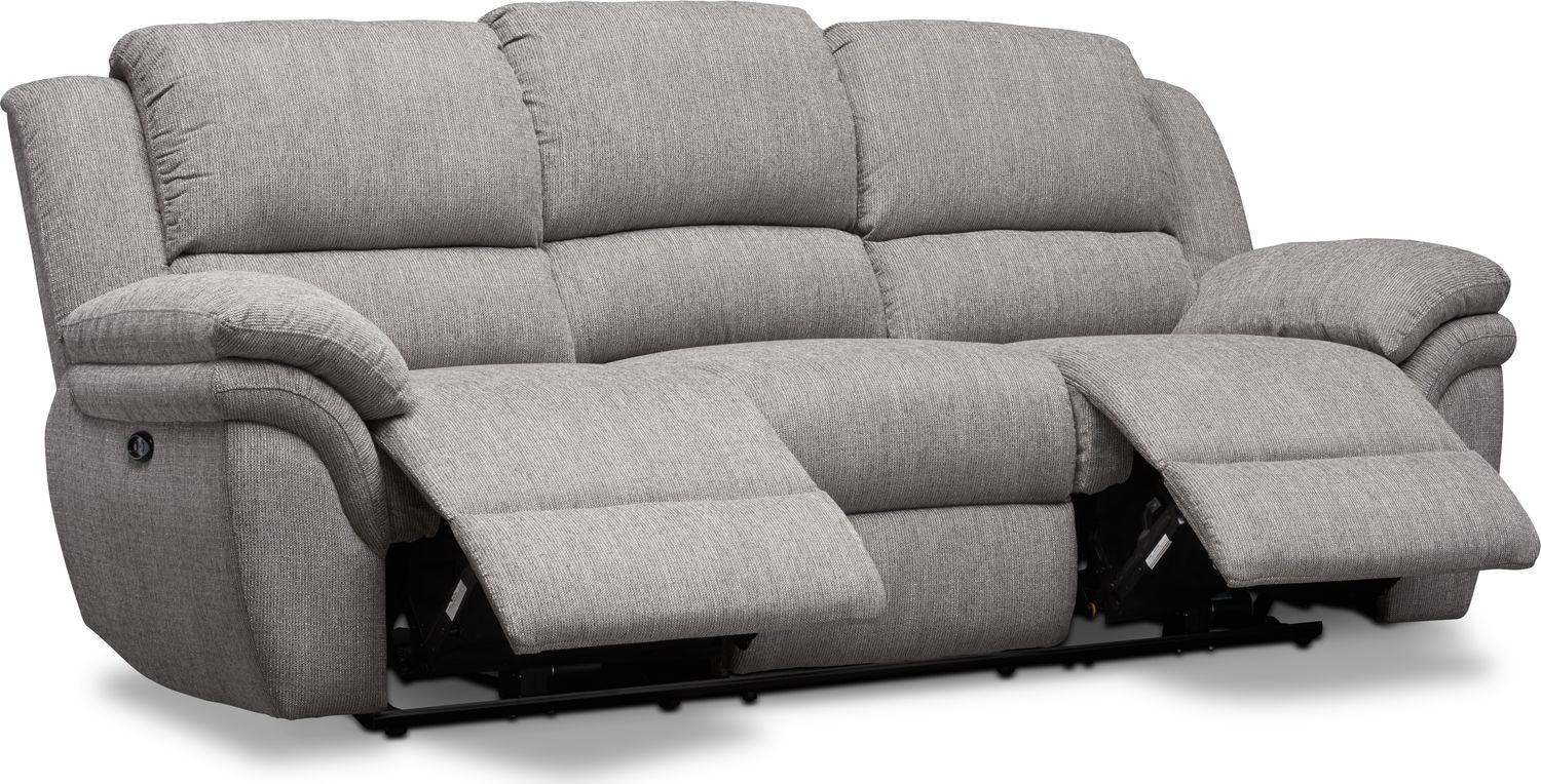 grey power reclining sofa cheap slipcovers aldo value city furniture and mattresses click to change image