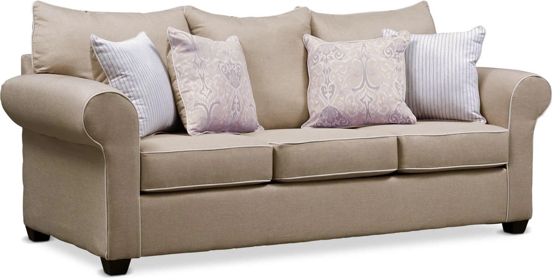 sleeper sofa black friday 2017 divani sofas co uk futons living room seating value city tap to change carla queen memory foam beige