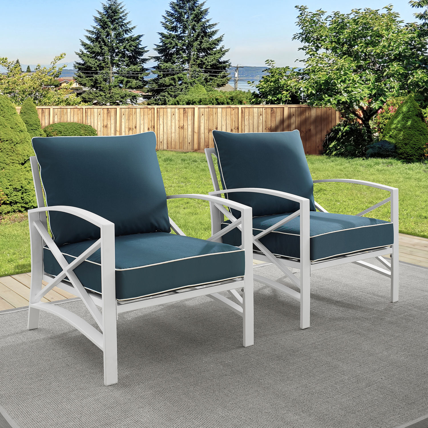 Outdoor Chair Set Clarion Set Of 2 Outdoor Chairs