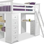 Flynn Loft Bed With Desk And Chest Value City Furniture