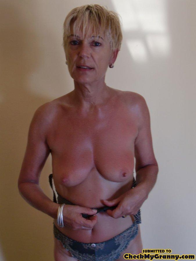 Granny topless