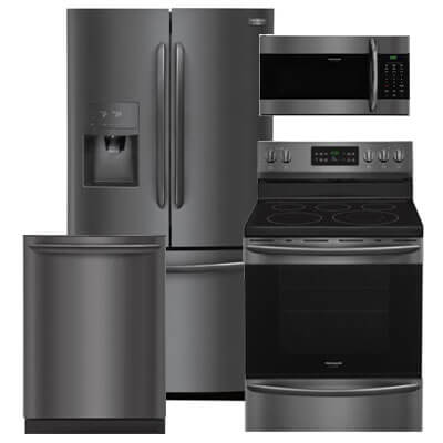 frigidaire kitchen package aids gallery packages warners stellian 4 pc pkg 793444 e 21 7 cu ft refrigerator electric range microwave dishwasher