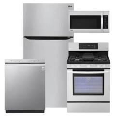 Lg Kitchen Suite Rustoleum Cabinet Kit Reviews 4 Pc Pkg 275525 G 23 8 Cu Ft Refrigerator Gas Range Packages