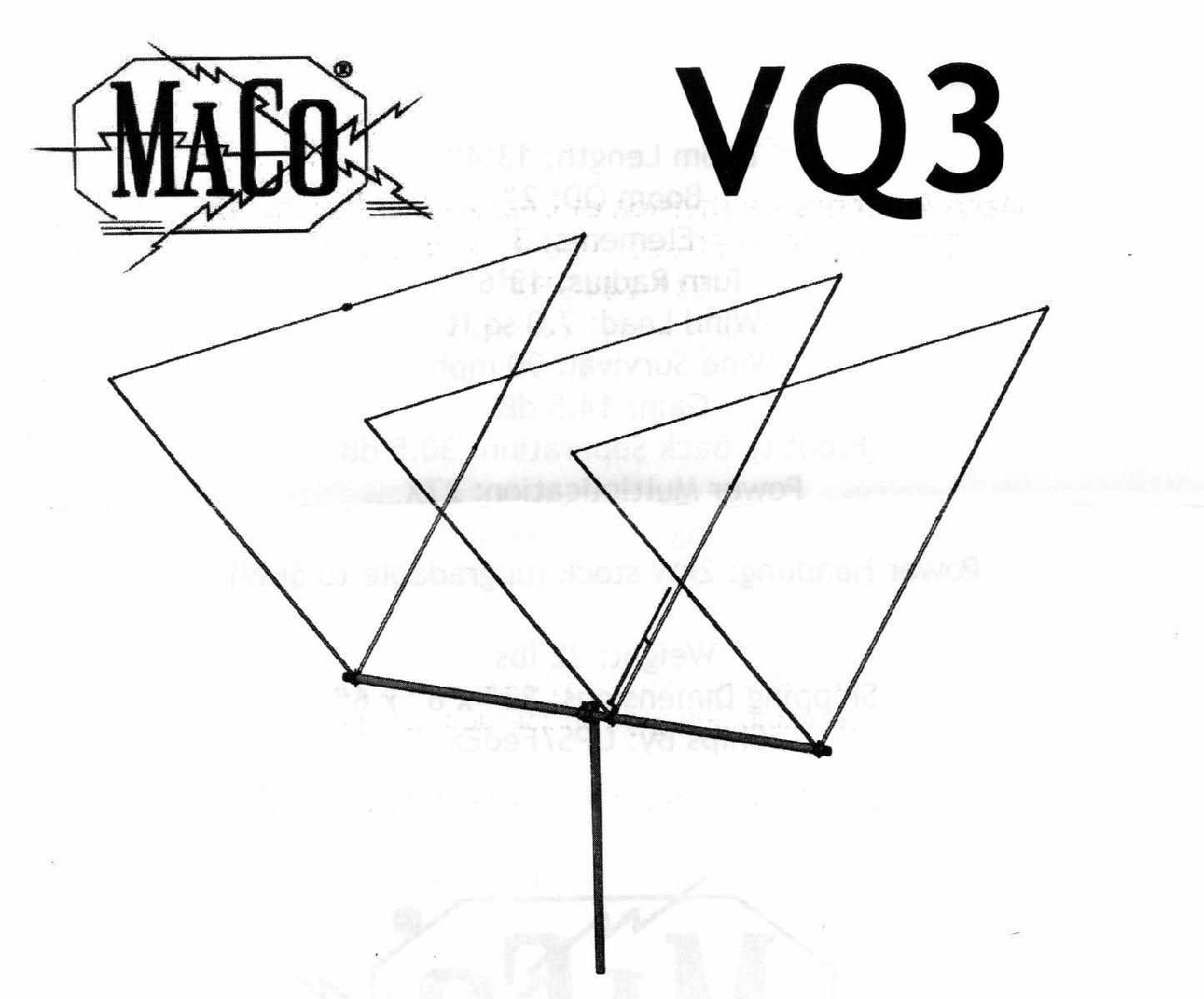 Maco VQ3 V-Quad Beam Antenna
