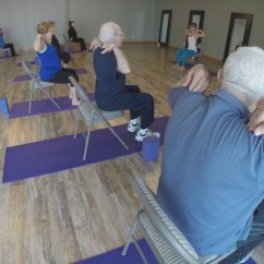 Chair Yoga For Seniors X Rocker Spider Wireless Game Gives 39 Health A Lift Wfmynews2
