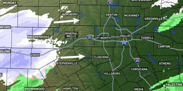 Weather Map North Texas