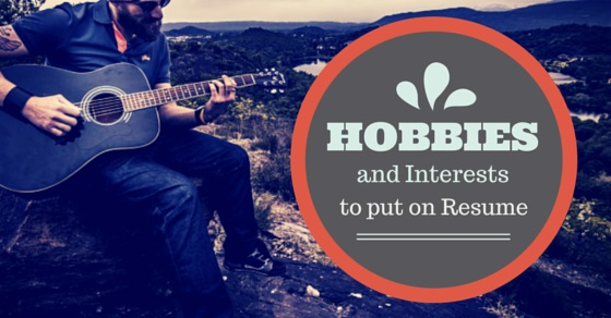 some good hobbies for resume