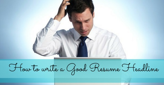 resume headline tips
