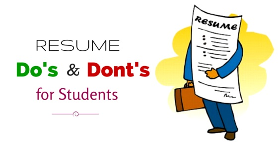 resume dos and don'ts for students