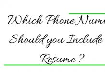 Which Phone Number Should you Include on Resume? 10 Tips