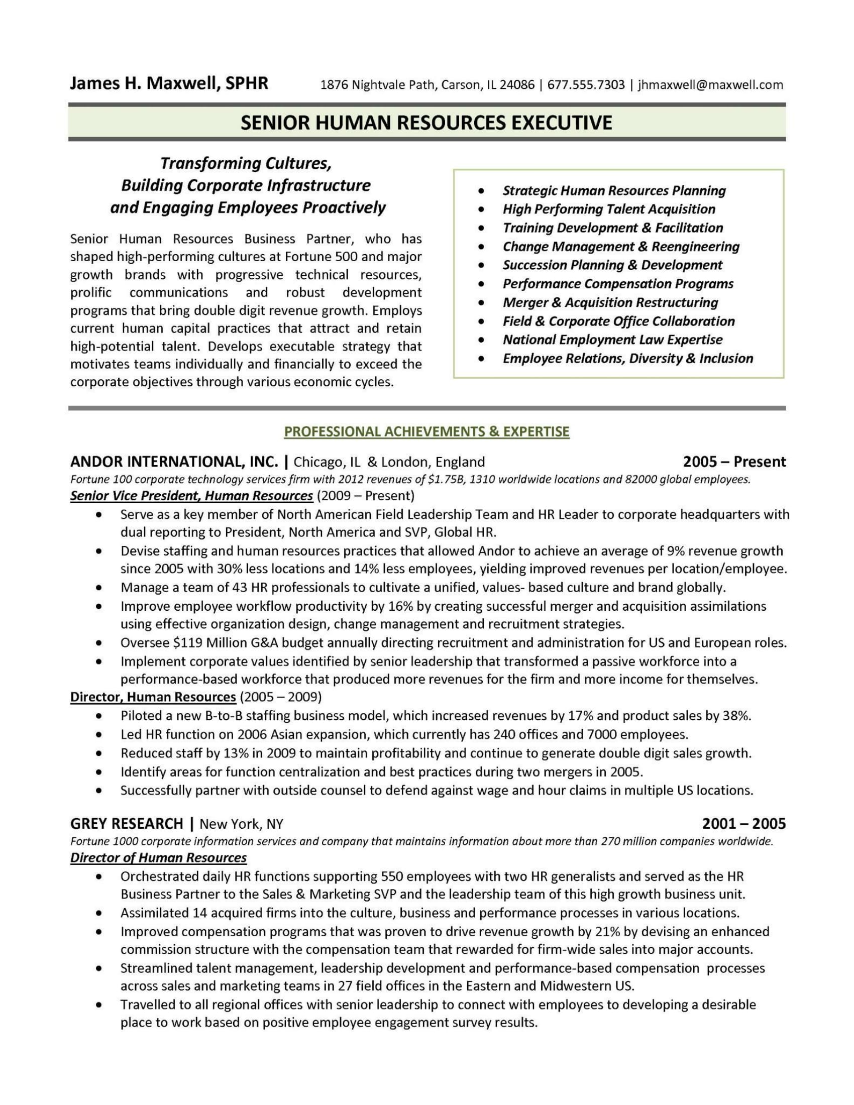 Human Resources Manager Resume Examples 21 Best Hr Resume Templates For Freshers And Experienced