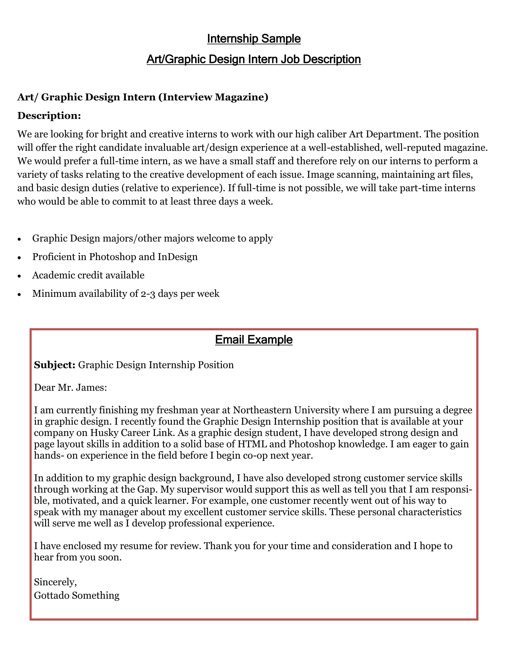 Cover Letter Examples Internship 16 Best Cover Letter Samples For Internship Wisestep