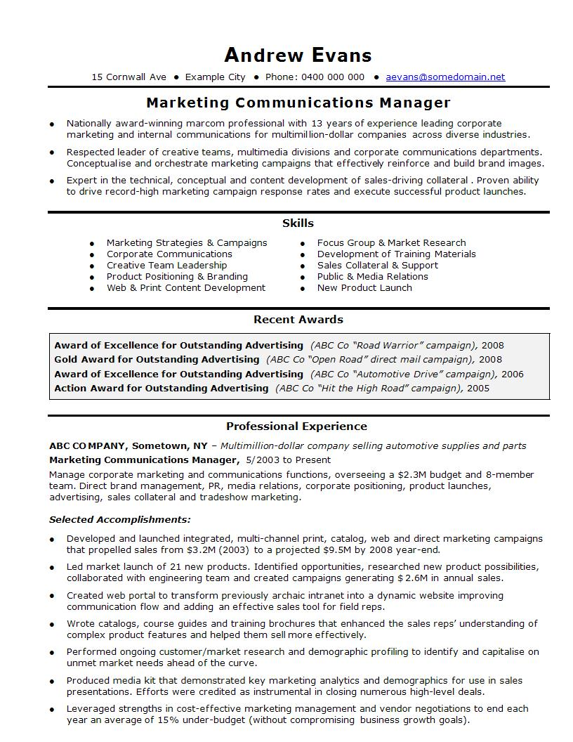 Experience In Marketing Resume 21 Perfect Marketing Resume Templates For Every Job Seeker Wisestep
