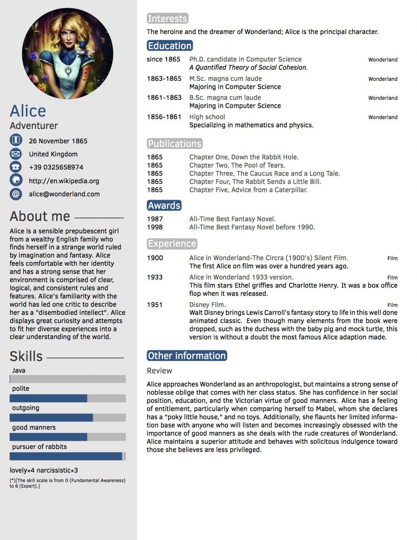 latex resume layout