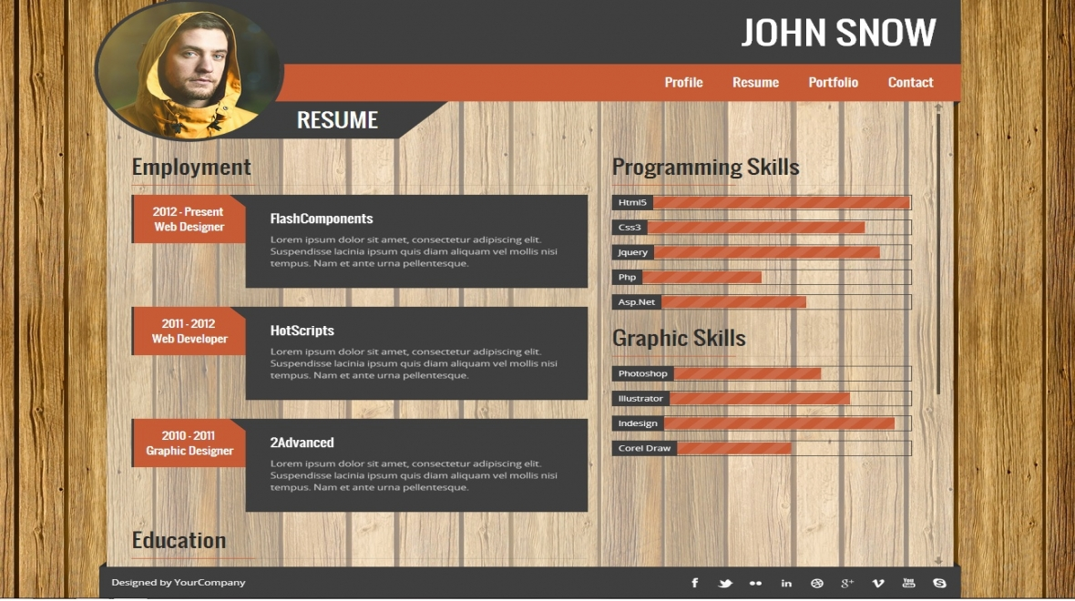 resume portfolio definition
