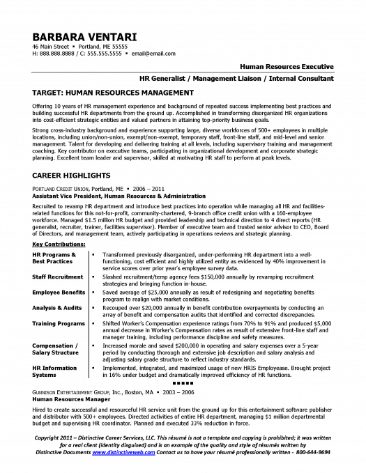 21 Best Hr Resume Templates For Freshers Amp Experienced