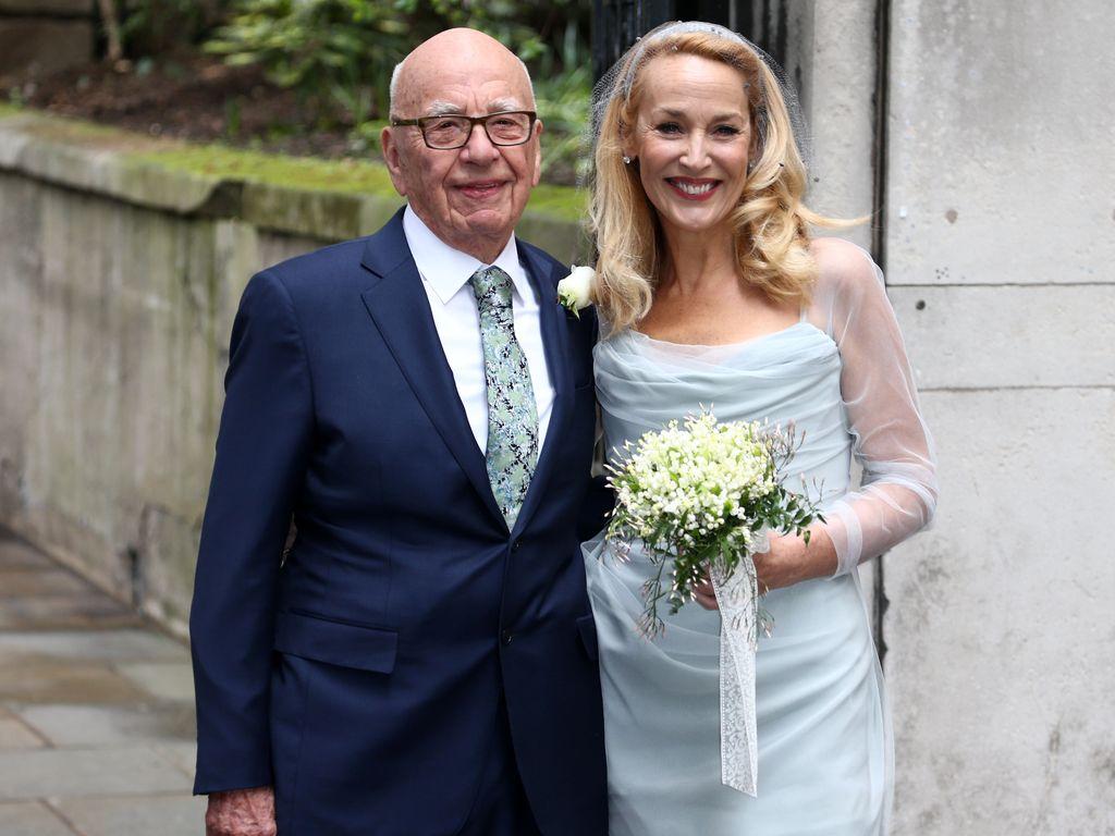 Kirchliche Trauung Rupert Murdoch  Jerry Hall sagen Ja