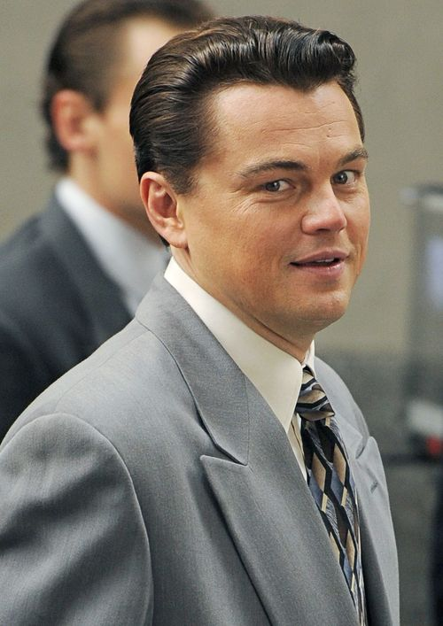 Leonardo Dicaprio Mit Dunklen Haaren The Wolf Of Wall Street