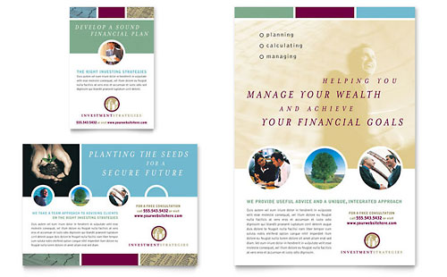 Financial Planning Print Ad Templates Financial Services