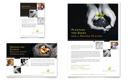Financial Services Print Ads Templates & Designs