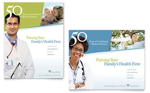 Medical & Health Care Posters Templates & Designs