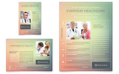 Medical & Health Care Print Ads Templates & Designs