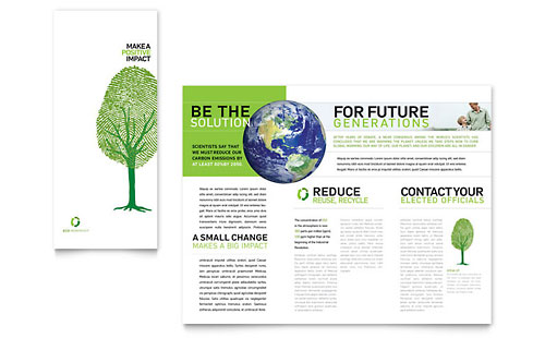 Energy & Environment Tri Fold Brochure Templates
