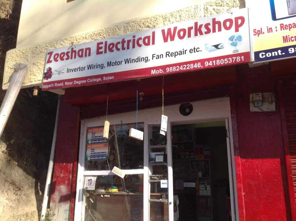 medium resolution of zeeshan electrical workshop in near degree collage opp indian bank solan
