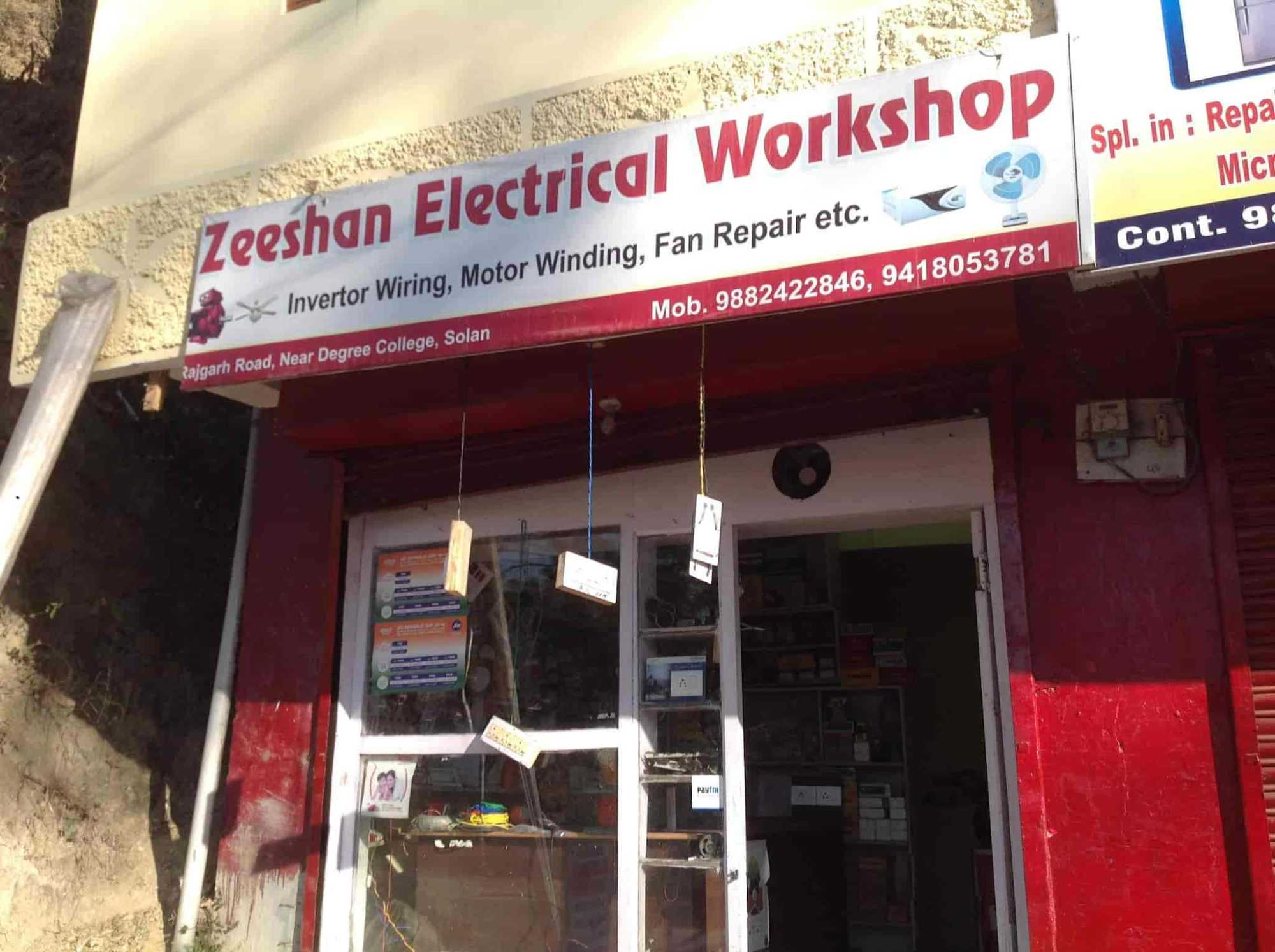 hight resolution of zeeshan electrical workshop in near degree collage opp indian bank solan