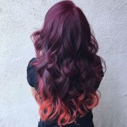 brilliant burgundy hair color