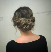 chic updos short hair