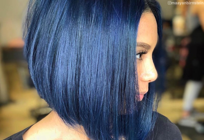 19 Most Amazing Blue Black Hair Color Looks Of 2020
