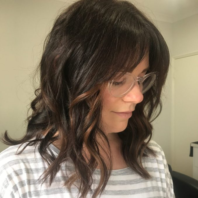 Image Result For Medium Length Layered Haircuts With Bangs
