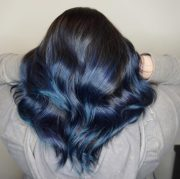 coolest blue black hair shades