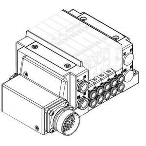 SS5Y3-10M, 3000 Series Manifold, Circular Connector (IP67