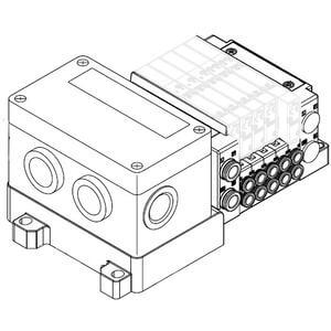 SS5Y3-10S4, 3000 Series Manifold for Series EX126